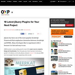 18 Latest jQuery Plugins for Your Next Project