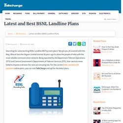 Latest and Best BSNL Landline Plans