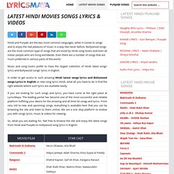 Hindi Latest Songs Lyrics & Videos, New Song Lyrics in Hindi - LyricsMaya