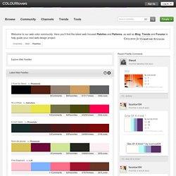 Latest Web Palettes