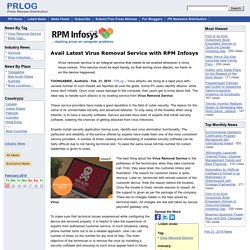 Avail Latest Virus Removal Service with RPM Infosys