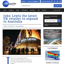 3.9.1 - John Lewis takes the low risk approach to international growth