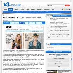 Asos latest retailer to see online sales soar