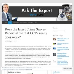 Does the latest Crime Survey Report show that CCTV really does work?