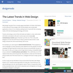 The Latest Trends in Web Design