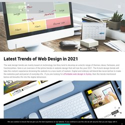 Latest Trends of Web Design in 2021