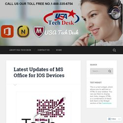 Latest Updates of MS Office for IOS Devices – USA Tech Desk