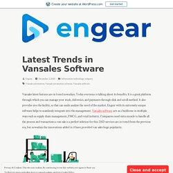 Latest Trends in Vansales Software