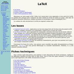 Tuto LaTeX de l'ENS