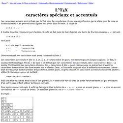 LaTeX : caractères [Deuns]