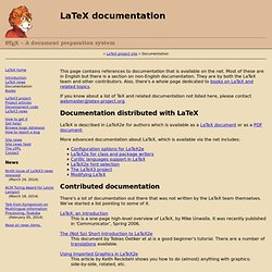 LaTeX documentation
