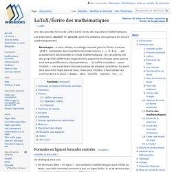 LaTeX/Écrire des mathématiques
