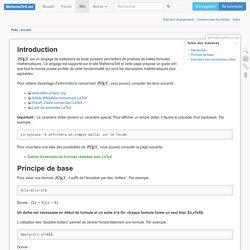 wiki:latex:guide:accueil [MathemaTeX]