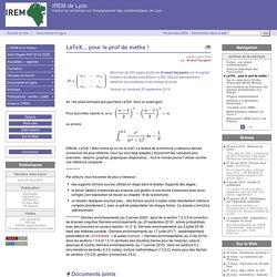 LaTeX... pour prof de maths