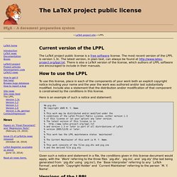 The LaTeX project public license