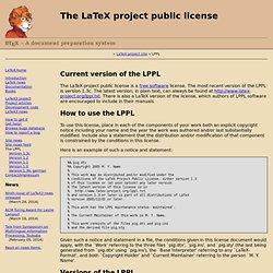 The LaTeX project public license