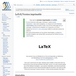 LaTeX/Version imprimable