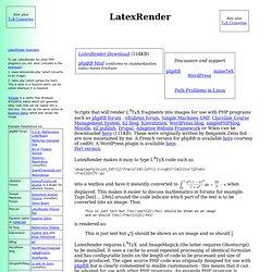 LatexRender & TeX Converter