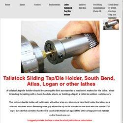 Lathe Tailstock Tap/Die Holder