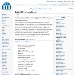 Latin/Christmas Carols