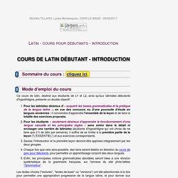 Cours de latin débutants université