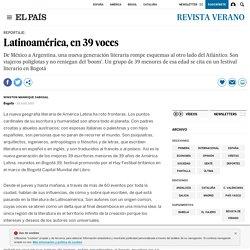 Latinoamérica, en 39 voces