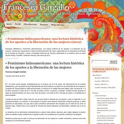 Feminismo latinoamericano: una lectura histórica de los aportes a la liberación de las mujeres (2012)