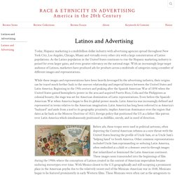 Latinos and Advertising · Latinos and Advertising · Race & Ethnicity in Advertising