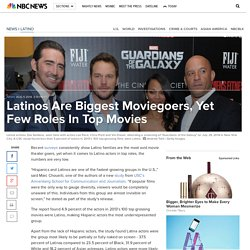 Latinos Are Biggest Moviegoers, Yet Few Roles In Top Movies