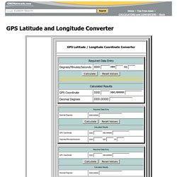 GPS Latitude and Longitude Converter