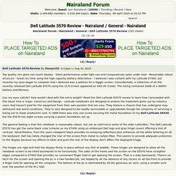 Dell Latitude 3570 Review - Nairaland / General