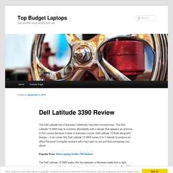 Dell Latitude 3390 Review
