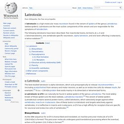 Latrotoxin
