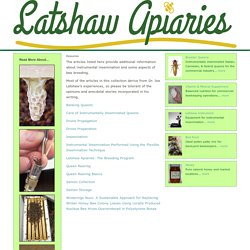 LATSHAW APIARIES - Resources
