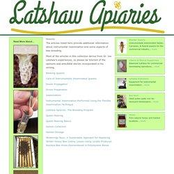 LATSHAW APIARIES - Resources