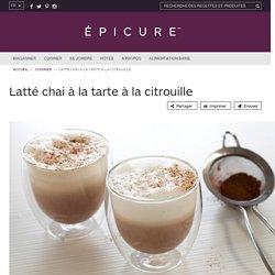 Latté chai à la tarte à la citrouille