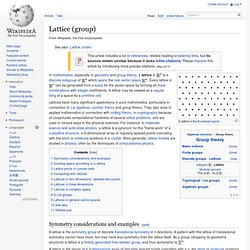 Lattice (group)