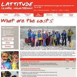 What are the costs? - Lattitude Global Volunteering