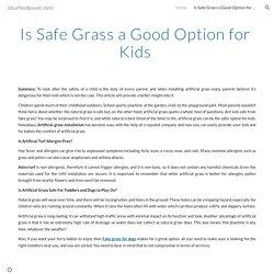 laturfandpaver.com/ - Is Safe Grass a Good Option for Kids