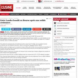 Estée Lauder bondit en Bourse après une solide croissance - Cosmétique