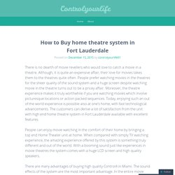 How to Buy home theatre system in Fort Lauderdale