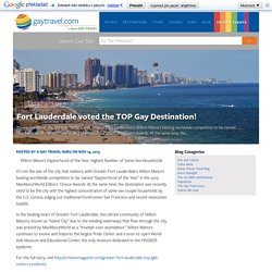 Fort Lauderdale voted the TOP Gay Destination! — The New GayTravel.com!
