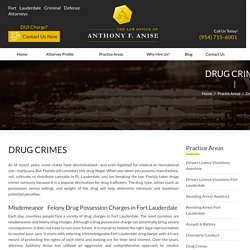 Felony Drug Possession Charges Attorney, Florida