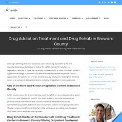Trustworthy Drug Addiction Treatment Center