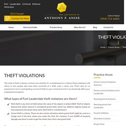 Fort Lauderdale Theft Violation Crime Lawyer