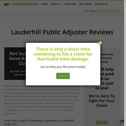 Lauderhill water - United Claims Specialists
