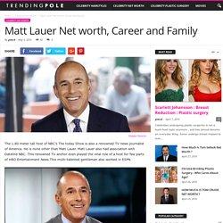 Matt Lauer Net worth, Career and Family
