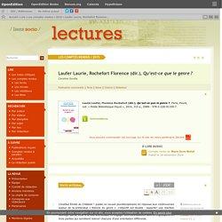 Laufer Laurie, Rochefort Florence (dir.), Qu'est-ce que le genre?