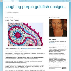 laughing purple goldfish designs: Pretty Picot Paisley