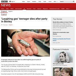 'Laughing gas' teenager dies after party in Bexley - BBC News